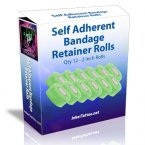 12 Self Adherent Bandage Retainer Rolls