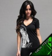 Sullen Angel Born Free Black Vneck