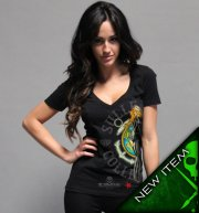 Sullen Angel Sailor Girl Black Vneck