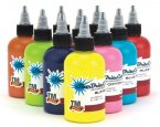 StarBrite Tattoo Ink 10 Color Kirt Silver Set