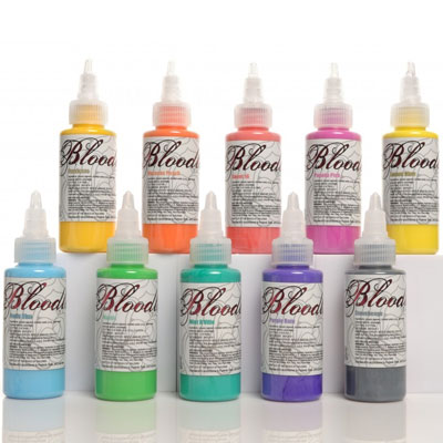 Bloodline Tattoo Ink 10 Color Pastel Set