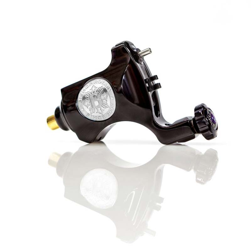 Bishop Rotary Tattoo Machine in Graphite-Polished Black