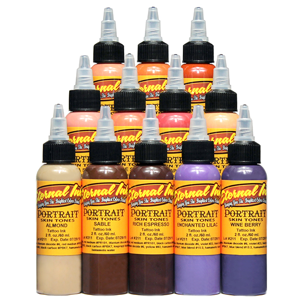 Eternal Tattoo Ink Portrait Skin Tone Collection - 12 Colors