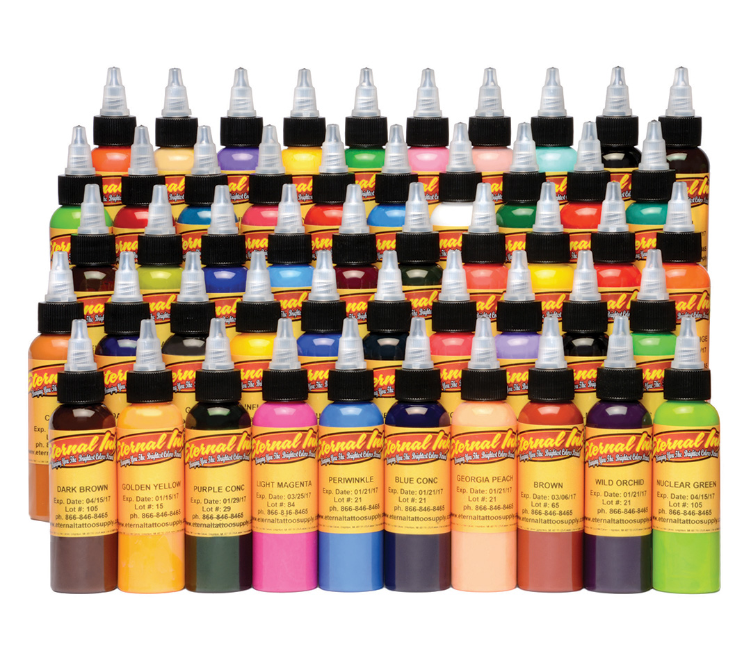 Eternal Tattoo Ink 50 Color Set