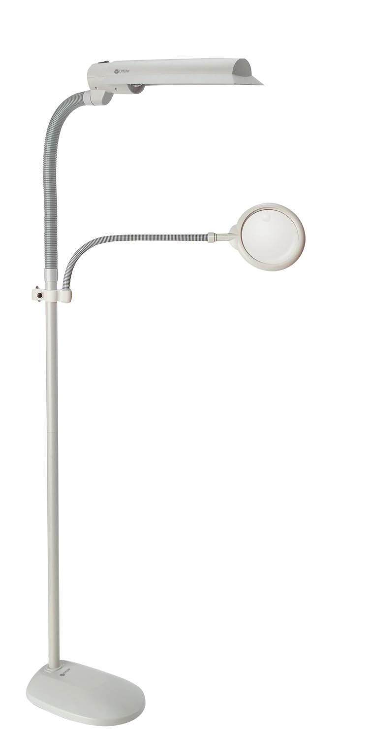 Tattoo Shop Mobile Floor Lamp with Magnifier