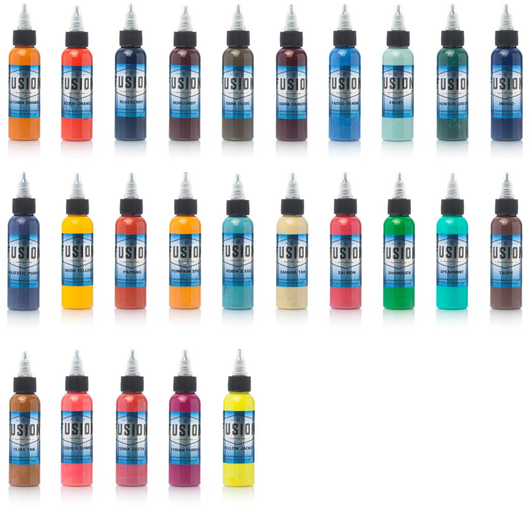 Fusion Tattoo Ink 25 Color Set