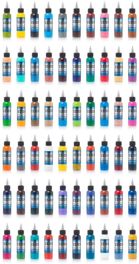 Fusion Tattoo Ink 60 Color Set