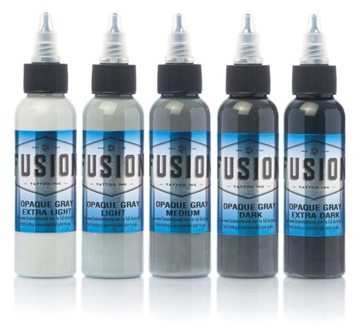 Fusion Tattoo Ink Opaque Gray Set
