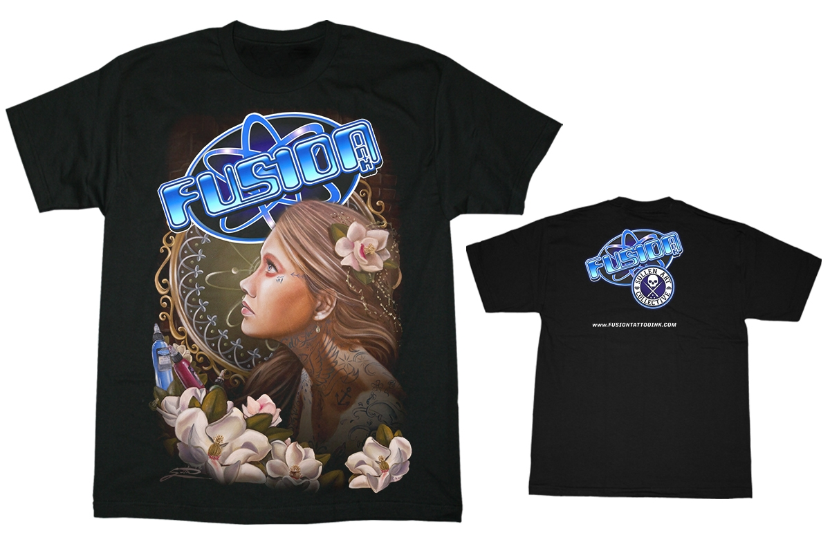 Fusion Tattoo Ink T-Shirt by Sullen - Johnny Smith Girl w/Flower