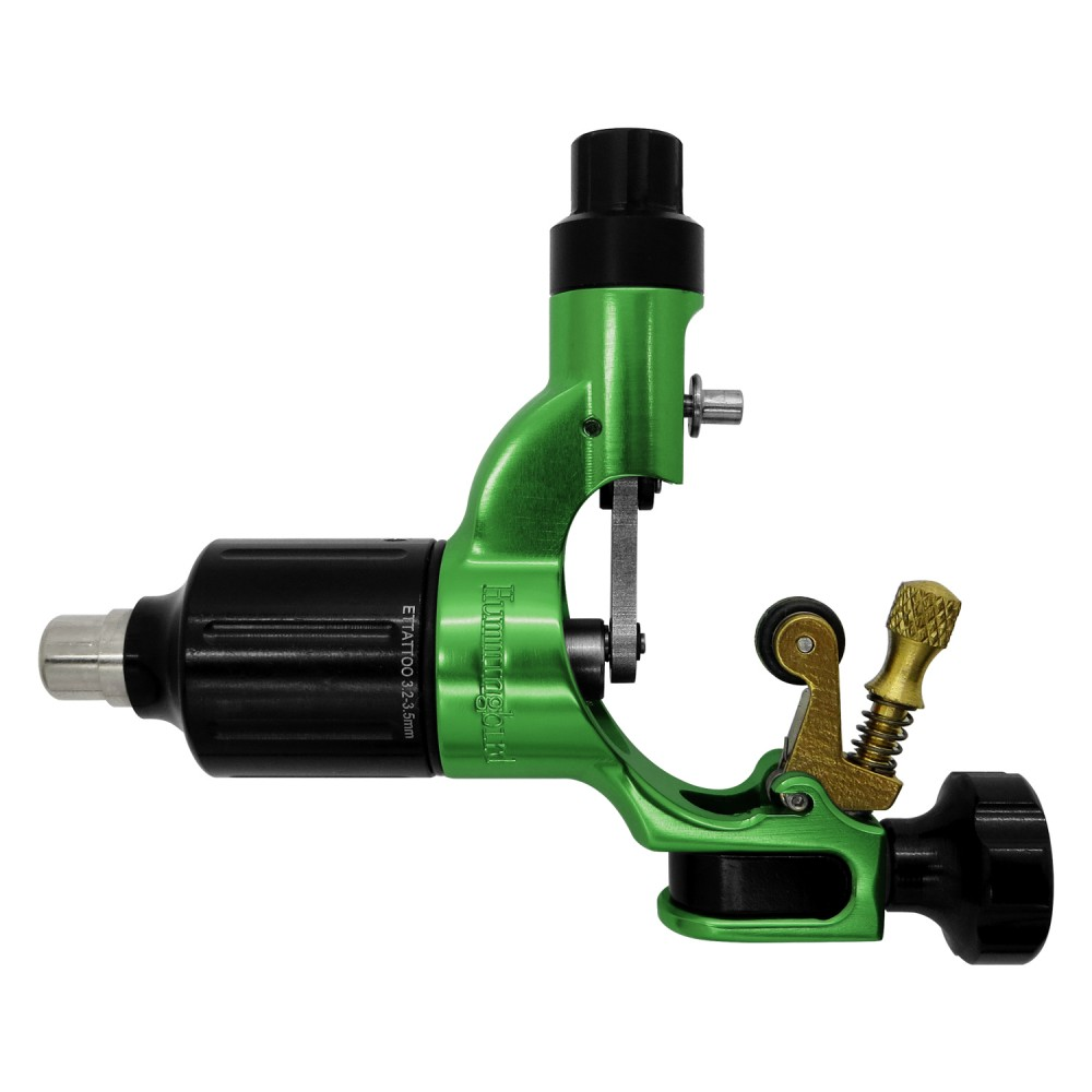 Hummingbird Rotary Tattoo Machine V2 in Green