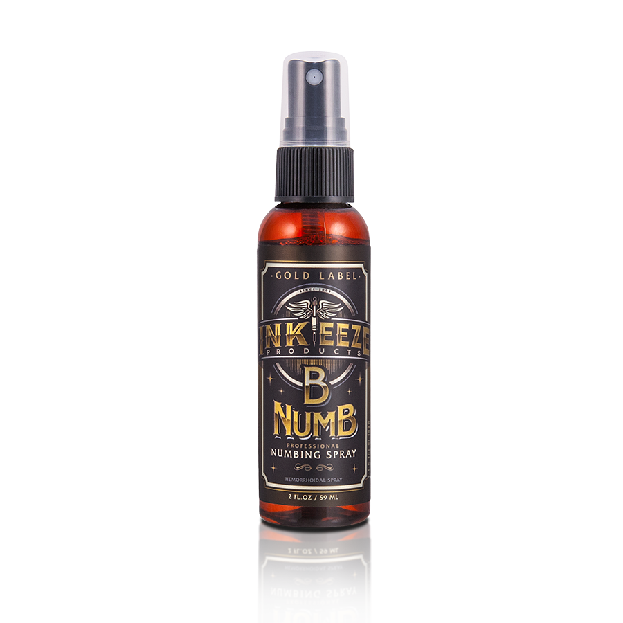 Inkeeze B Numb Spray Gold Label 2oz