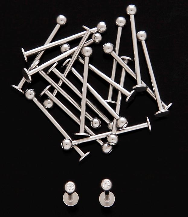 Cheek Barbell Rhinestone