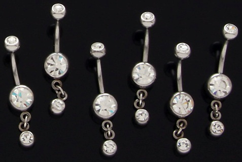 Single Dangle Belly Button Ring