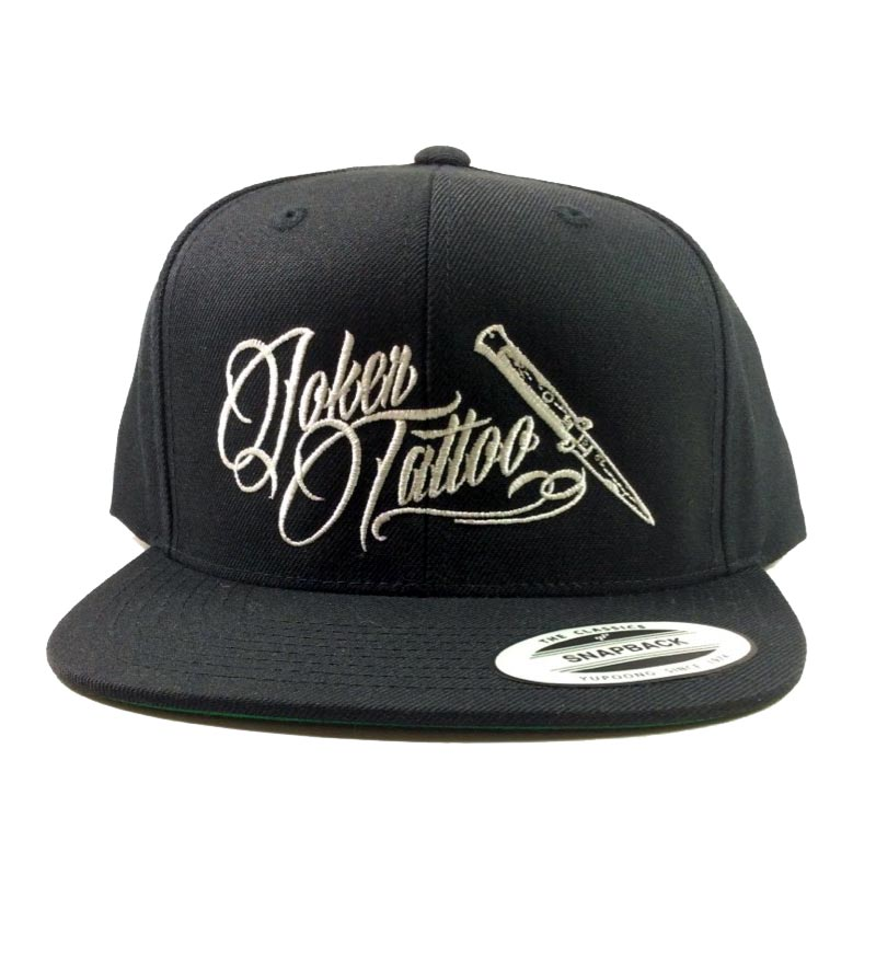 Joker Tattoo Supply Snapback Classic Hat in Black