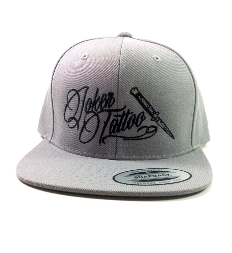 Joker Tattoo Supply Snapback Classic Hat in Grey