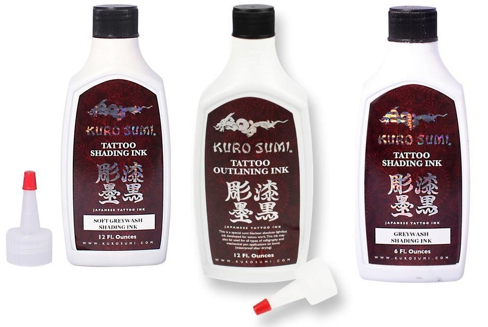 Kuro Sumi 3 Bottle Outlining and Shading 6oz. Set