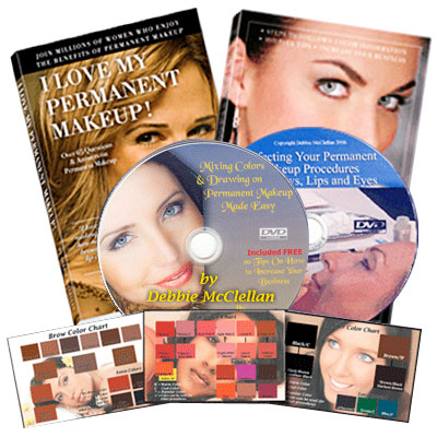 Permanent Makeup Complete Book and 2 DVD Set