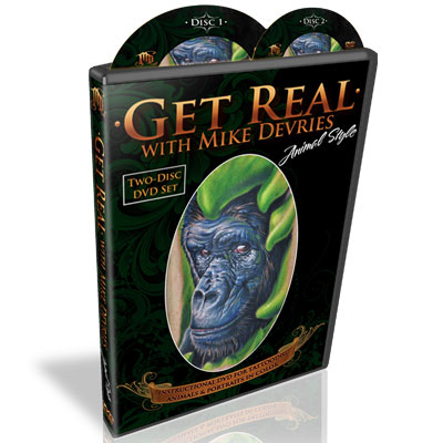 "Tattoo DVD ""Get Real Animal Style"" by Mike Devries"