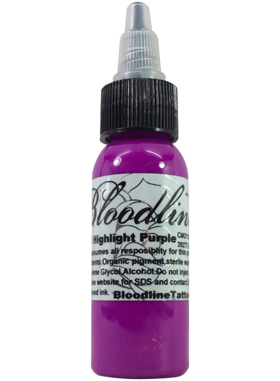 Bloodline UV Tattoo Ink Black Light Purple