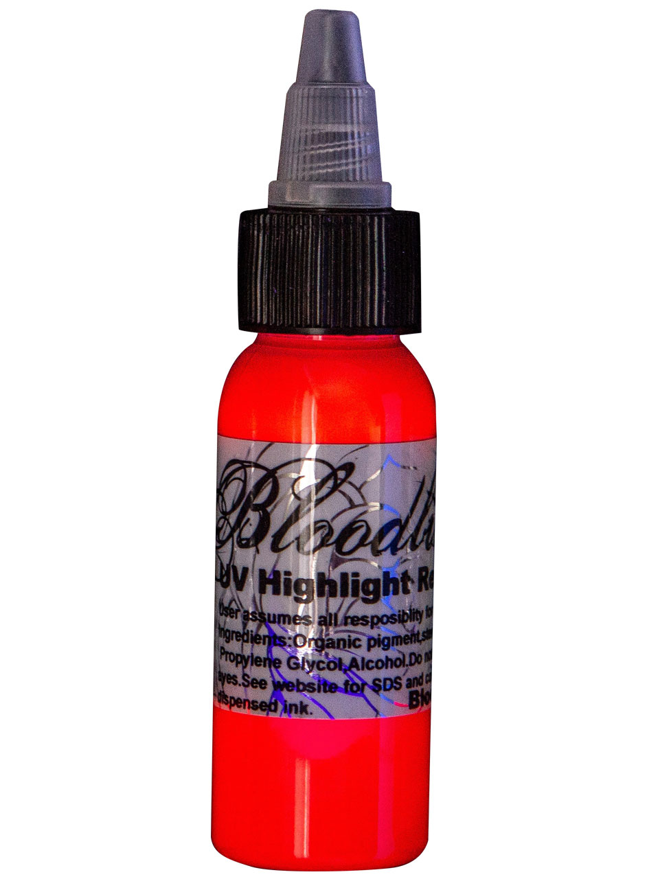 Bloodline UV Tattoo Ink Black Light Red