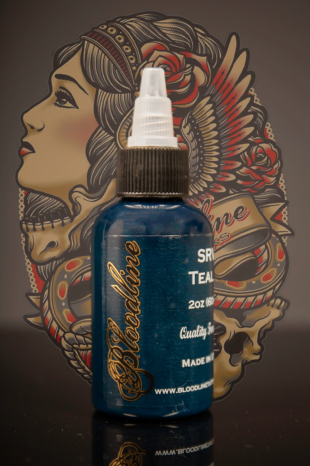 Bloodline Tattoo Ink Teal Concentrate (formerly SRV Teal)