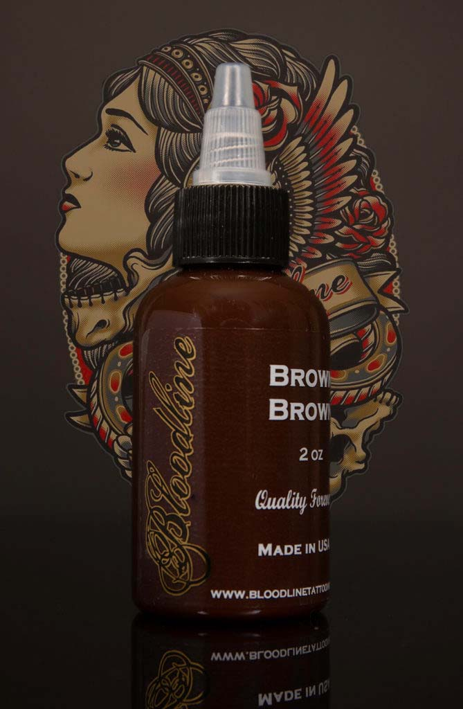 Bloodline Tattoo Ink Brown Brown