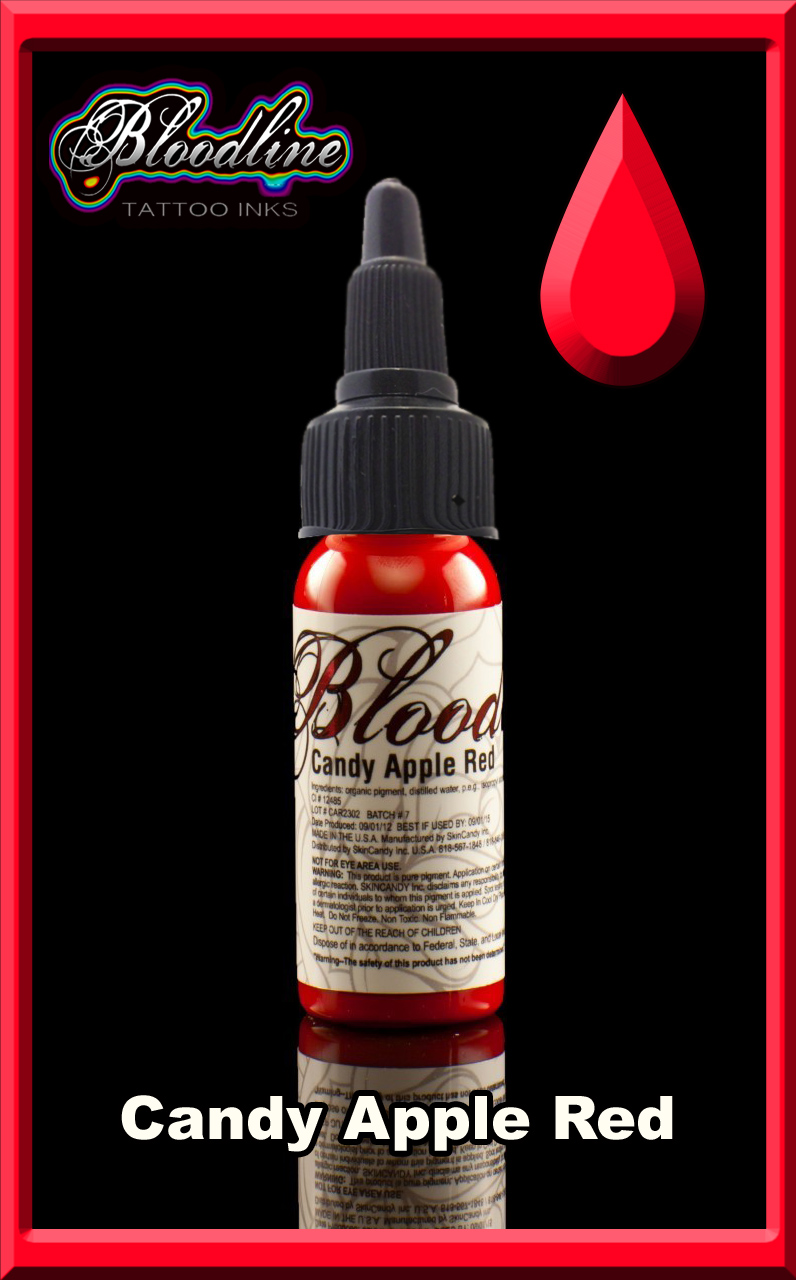 Bloodline Tattoo Ink Candy Apple Red