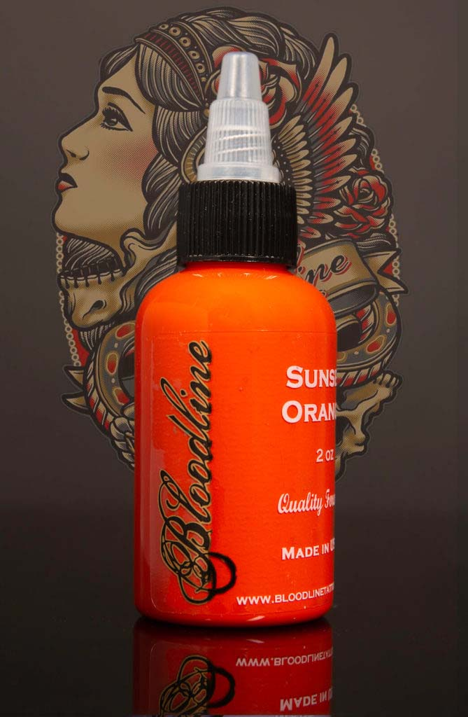 Bloodline Tattoo Ink Sunset Orange