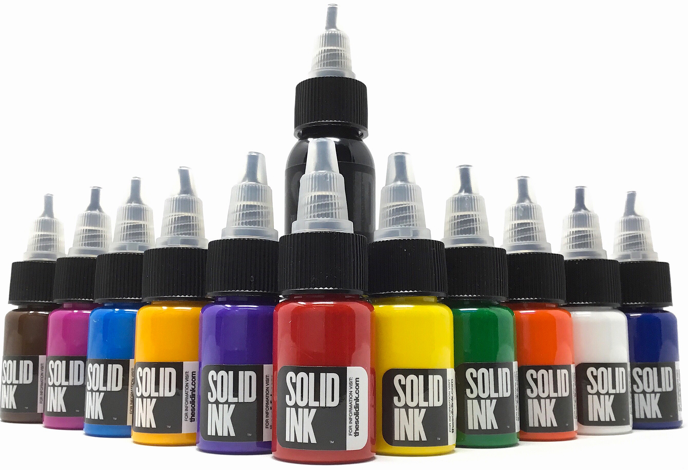 Solid Ink 11 Half Ounce Colors and 1oz Black Mini Travel Set