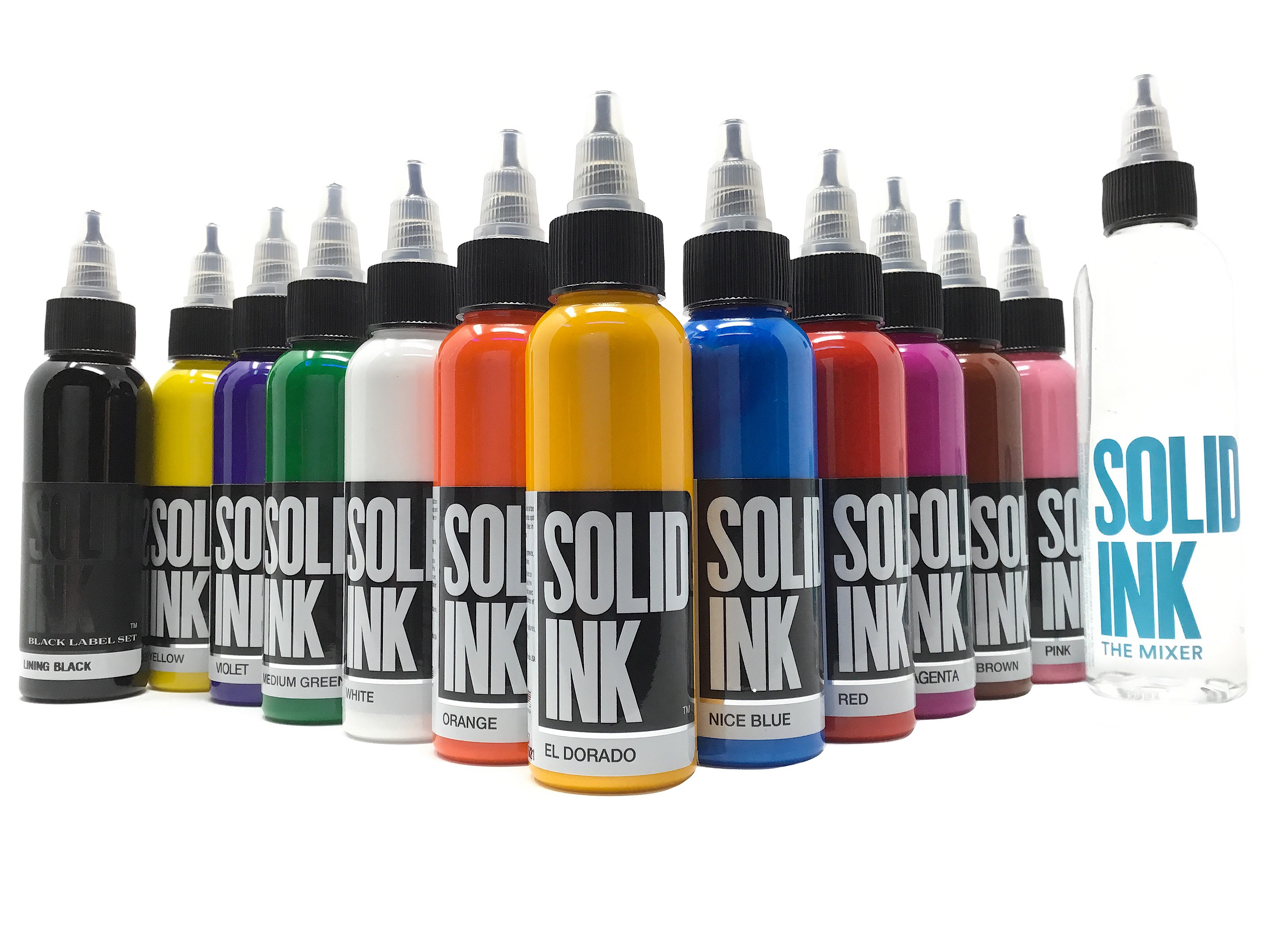 Solid Tattoo Ink 12 Color Spectrum Set