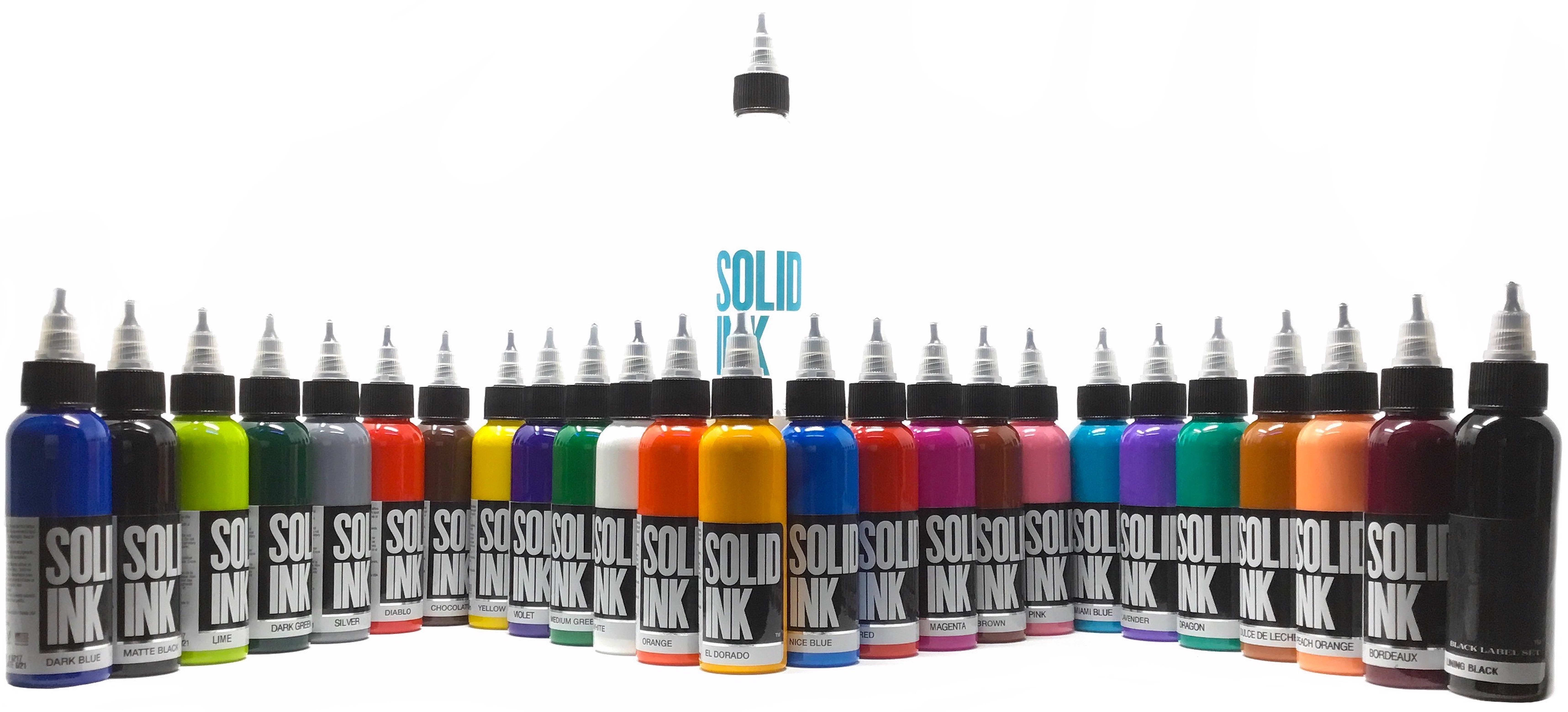 Solid Tattoo Ink 25 Color Fundamental Set