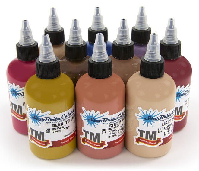 StarBrite Tattoo Ink 10 Color George Galindo Set