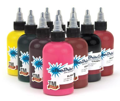StarBrite Tattoo Ink 10 Color Sample Set