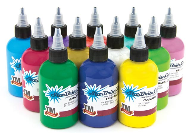 Starbrite tattoo ink 12 color solar set tattoo supplies for Tattoo supplies wholesale