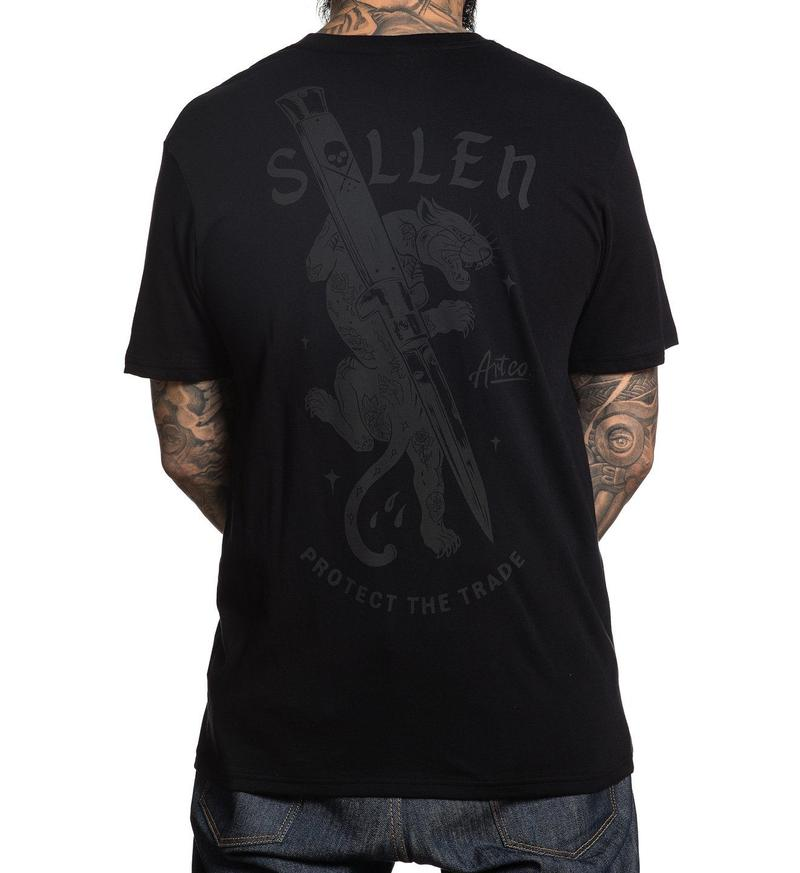 Sullen Cut Off Black Tee