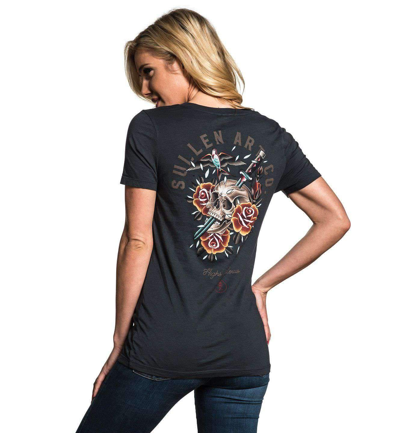 Sparrose Ladies V-Neck T-Shirt by Sullen