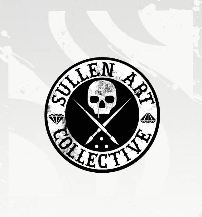 Circular Sullen Art Collective Black Sticker Joker Tattoo Supply Professional Tattoo
