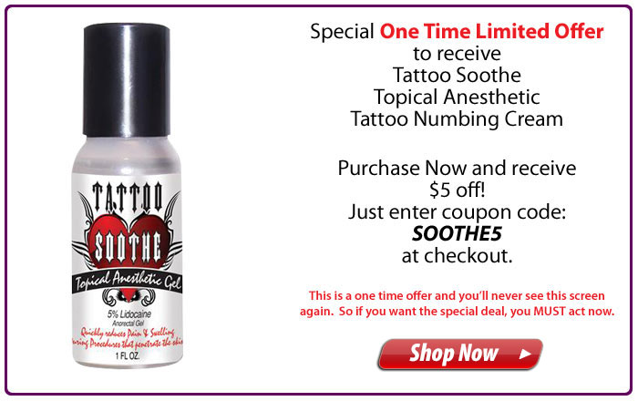 Tattoo Soothe Topical Anesthetic Gel