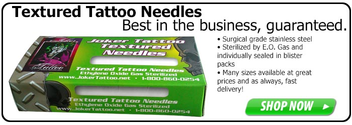 Textured Tattoo Needles from Joker Tattoo Supply