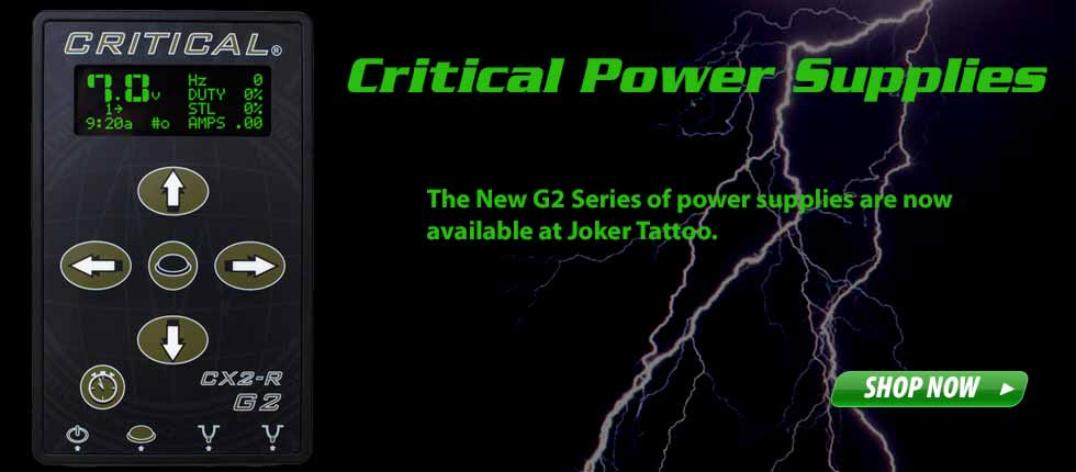 Critical Tattoo Power Supplies