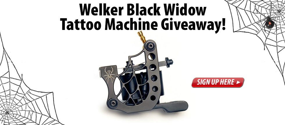 Welker Black Widow Tattoo Machine Giveaway from Joker Tattoo Supply