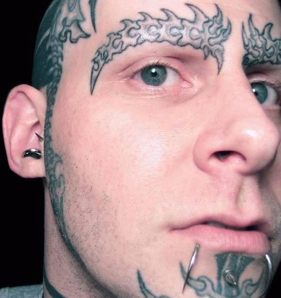 on your body that a tattoo artist may try to talk you out of tattooing.
